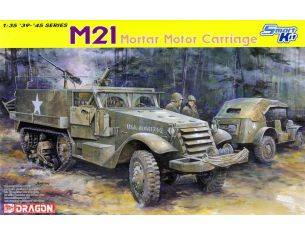 Dragon D6362 M 21 MORTAR MOTOR CARRIAGE KIT 1:35 Modellino