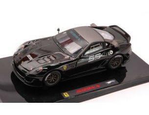 Hot Wheels HWT6264 FERRARI 599 XX RACING N.55 BLACK 1:43 Modellino