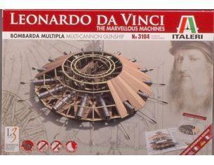 Italeri IT3104 BOMBARDA MULTIPLA NAVALE LEONARDO DA VINCI KIT Modellino