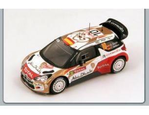 Spark Model S3360 CITROEN DS3 WRC N.10 3rd MONTE CARLO 2013 SORDO-DEL BARRIO 1:43 Modellino
