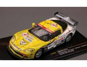 Ixo model GTM085 CORVETTE Z06 N.4 MOLLEKENS/MENTEN/HEZEMANS WINNER 24h SPA 2009 1:43 Modellino