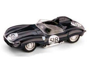 Brumm BM0146 JAGUAR D TYPE N.518 RETIRED (LOOS PETROL TANK) MM 1957 R.FLOCKHART 1:43 Modellino