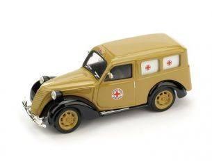 Brumm BM0179C FIAT 1100 E CROCE ROSSA BERGAMO 1:43 Modellino