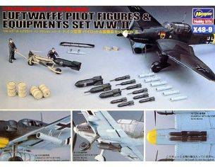 Hasegawa HG36009 LUFTWAFFE PILOT & EQUIPMENTS 1:48 KIT Modellino