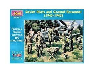 ICM ICM48021 SOVIET PILOTS FIGURE 1:48 Modellino