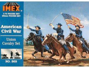 Imex IM0503 AMERICAN UNION CAVALRY SET KIT 1:72 Modellino