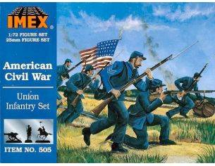 Imex IM0505 AMERICAN UNION FIGURE KIT 1:72 Modellino