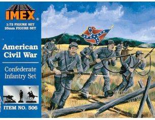 Imex IM0506 AMERICAN CONFEDERATE INFANTRY KIT 1:72 Modellino