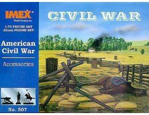 Imex IM0507 AMERICAN CIVIL WAR ACCESSORIES KIT 1:72 Modellino