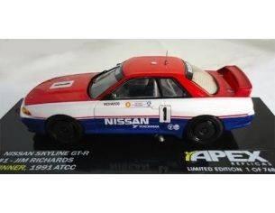 Ixo model AR0105 NISSAN SKYLINE GTR R32 1991 1/43 Modellino