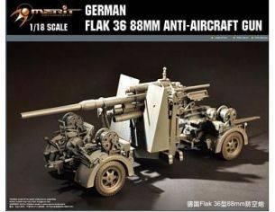 Merit Model ME61701 FLAK 36 88MM ANTI-AIRCRAFT GUN KIT 1:18 Modellino