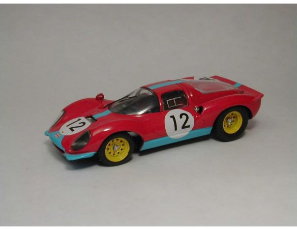 Art Model AM0127 FERRARI DINO 206 S N.12 6th FRANCORCHAMPS 1966 ATTWOOD-GUICHET 1:43 Modellino