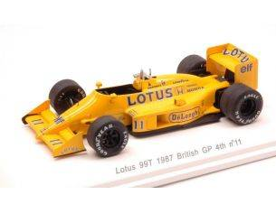 Reve Collection REVE70182 LOTUS 99T S.NAKAJIMA 1987 N.11 4th GR.BRITAIN GP W/DECALS 1:43 Modellino