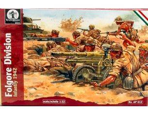 Waterloo AP012 FOLGORE DIVISION INFANTRY 1942 KIT 1:32 Modellino