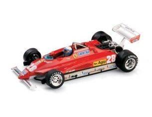 Brumm BM0268CH FERRARI 126 C2 D.PIRONI 1982 WINNER SAN MARINO GP N.28 W/PILOTE 1:43 Modellino