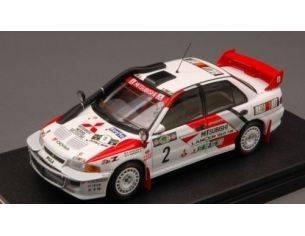 Hpi Racing HPI8552 MITSUBISHI LANCER EVO III N.2 2nd KENYA 1995 SHINOZUKA-KUUKKALA 1:43 Modellino