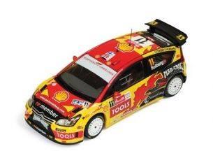 Ixo model RAM413 CITROEN C4 WRC N.11 2nd CORONA MEXICO RALLY 2010 MILLS-SOLBERG 1:43 Modellino