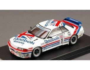 Hpi Racing HPI8605 REEBOK SKYLINE GT-R N.1 JTC WEST JAPAN 1990 1:43 Modellino