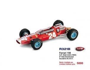 Brumm BM0321B FERRARI 158 B.BONDURANT 1965 N.24 9th USA GP 1:43 Modellino