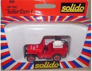 Solido 2117 JEEP WITH HOSE REEL RED 1/50 Modellino