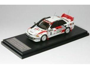 Hpi Racing HPI8618 MITSUBISHI LANCER EVO III N.8 6th KENYA 1996 SHINOZUKA-KUUKKALA 1:43 Modellino