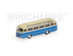 MINICHAMPS 169031084 AUTOBUS MERCEDES BENZ O321H 1957 CREAM & BLUE Modellino