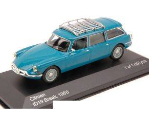 White Box WB039 CITROEN ID19 BREAK 1960 BLUE 1:43 Modellino