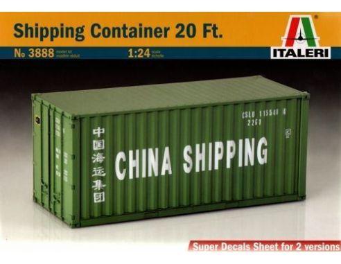 Italeri IT3888 SHIPPING CONTAINER KIT 1:24 Modellino