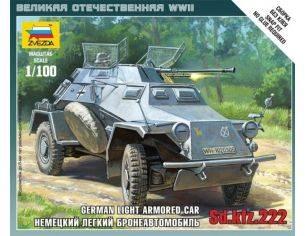 Zvezda Z6157 SD.KFZ.222 GERMAN VEHICLE KIT 1:100 Modellino