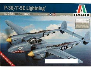 Italeri IT2681 P 38 F LIGHTNING AEREO KIT 1:48 Modellino