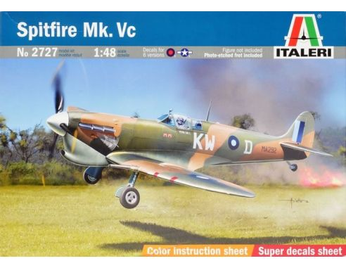 Italeri IT2727 SPITFIRE MK.VC KIT 1:48 Modellino