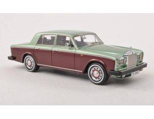 Neo Scale Models NEO44180 ROLLS ROYCE SILVER SHADOW II RHD 1978 LIGHT GREEN/DARK RED 1:43 Modellino