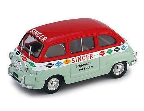 Brumm BM0399 FIAT 600 MULTIPLA 1956 SINGER 1:43 Modellino