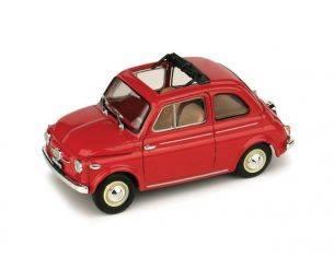 Brumm BM0364-01 FIAT NUOVA 500 APERTA 1959 ROSSO CORALLO 1:43 Modellino
