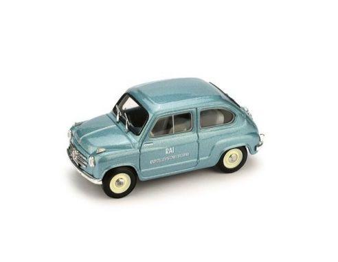 Brumm BM0483 FIAT 600 VETTURA DI SERVIZIO RAI 1960 1:43 Modellino