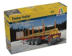 Italeri IT3868 TIMBER TRAILER KIT 1:24 Modellino