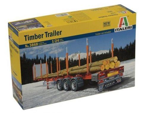 Italeri IT3868 TIMBER TRAILER KIT 1:24 Modellino