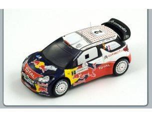 Spark Model S3309 CITROEN DS3 WRC N.2 WINNER JORDAN RALLY 2011 OGIER-INGRASSIA 1:43 Modellino