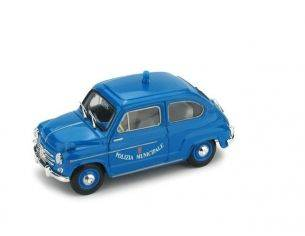 Brumm BM0456 FIAT 600 D POIZIA MUNICIPALE ROMA 1960 1:43 Modellino