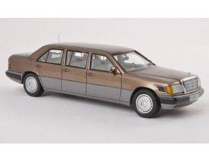Neo Scale Models NEO44306 MERCEDES 250 D LONG V 124 LIMOUSINE 1990 METALLIC BROWN 1:43 Modellino