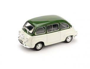 Brumm BM0333-07 FIAT 600 MULTIPLA D 1960 VERDE OLIVA/GRIGIO 1:43 Modellino