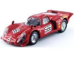 Best Model BT9514 ALFA ROMEO 33.2 N.86 15th NURBURGRING 1969 VACCARELLA-DE ADAMICH 1:43 Modellino