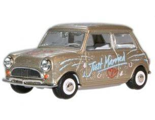 Oxford MIN016 MINI CAR 'JUST MARRIED' 1/43 Modellino