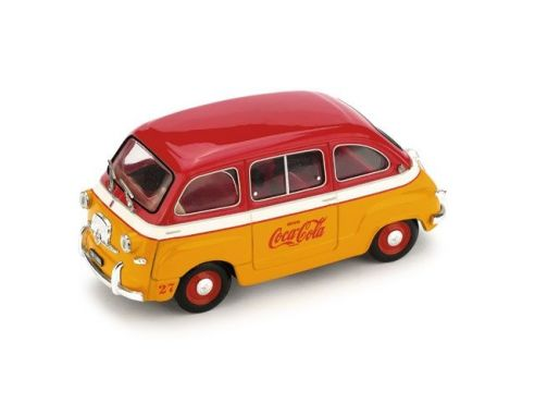 Brumm BM0482 FIAT 600 MULTIPLA COCA COLA OLIMPIADI 1960 1:43 Modellino