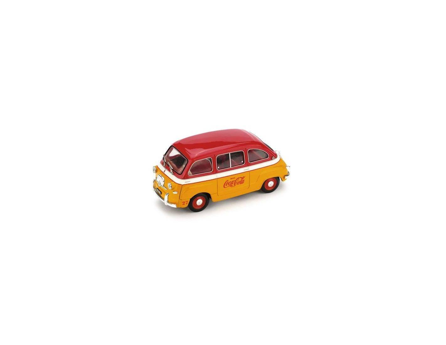 Fiat 600 Multipla Coca Cola 1960 Brumm 1:43 R482 Modellino Auto Diecast