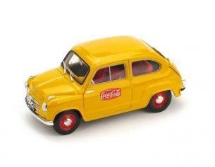 Brumm BM0491 FIAT 600 1a SERIE 1955 COCA COLA 1:43 Modellino