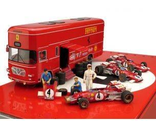 Brumm BMRTS04 RACE F1 TRANSPORTER SET ITALY GP 1970 1:43 Modellino