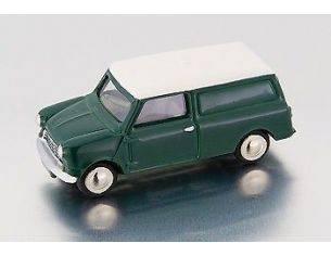 Bub 09151 MINI VAN GREEN-WHITE 1/87 Modellino
