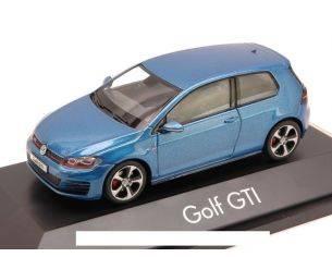 Herpa HP7077 VW GOLF GTI 2013 METALLIC BLUE 1:43 Modellino