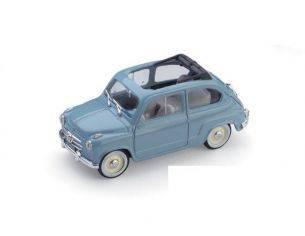 Brumm BM0248-04 FIAT 600 CONVERTIBILE APERTA 1956 AZZURRO CENERE 1:43 Modellino